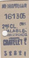 Ancien Ticket Métropolitain - Subway