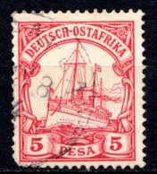 "AFRIQUE ORIENTALE - (Colonie Allemande) - 1900 - N° 13 - 5 P. Rouge - (Yacht Impérial ""Hohenzollern"") - Sonstige - Afrika"