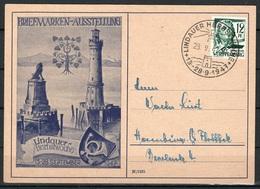 Franz Zone Postkarte Lindauer Herbstwoche  28.9.1947 - French Zone