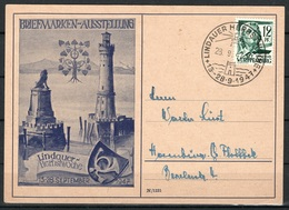 Franz Zone Postkarte Lindauer Herbstwoche  28.9.1947 - Zona Francesa