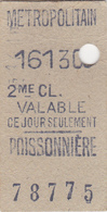 Ancien Ticket  Métropolitain - Europa