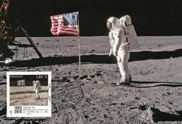 France 2019 - 50eme Anniversaire Premier Pas De L'homme Sur La Lune Maximum Card - Collectors