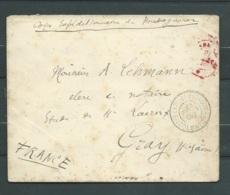 Corp Expeditionnaire De Madagascar 23/02/1896, Cachet à Date Zanzibar Au Dos Pour Gray Haute Saone  Pho2910 - Poststempel (Briefe)
