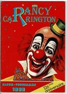 """Album- Programme 82 Du """"CIRQUE RANCY-CARRINGTON"""" 126e Anniversaire (avec Autographe Du Clown ROSSANO) - Programmi"""