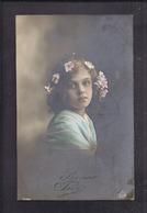 CPA Enfant Jolie Fillette Très à La Couronne De Fleurs - Pretty Girl Photo - Portraits