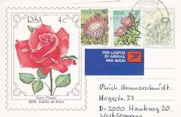 "RSA - Postcard ""Roses"" With Stamp - Pretoria To Hamburg - 1980  (45503) - South Africa (1961-...)"