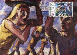 Allemagne - Berlin - Moderne Gemälde - Italiennische Steinträger Von Max Pechstein - Sur Carte Maximum - 6628 - Deutschland