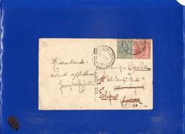 ##(DAN1912)-Italia 1921-Cartolina Fotografica Per Roma Reindirizzata Foligno, Annullo Ambulante Giulianova-Teramo - 1900-44 Vittorio Emanuele III