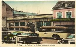 SPA - Le Grillon Vu De Face, Entouré De Ses Cars - Oblitération De 1952 - Spa