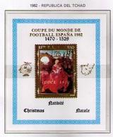TCHAD 1982 - CAMPEONATO DEL MUNDO DE FUTBOL ESPAÑA-82 - NAVIDAD - MUY RARA - Kerstmis