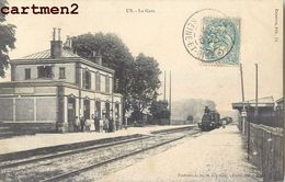 US _ LA GARE _ TRAIN LOCMOTIVE CHEMIN DE FER TRANSPORT 95 - Frankrijk