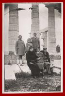 B-39881 SOUNION Greece 1939. Three Women, Man & Two Children. Photo - Anonymous Persons