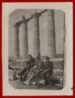 B-39882 SOUNION Greece 1950s. Women, Men & Child. Photo - Anonymous Persons