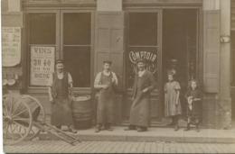 CPA Carte Photo Lyon 4ème - Comptoir De Vins Grande Rue De La Croix Rousse - Circa 1918 - Lyon 4