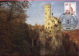 Allemagne - Bade Würtemberg - Château Lichtenstein - Sur Carte Maximum - 6635 - Reutlingen