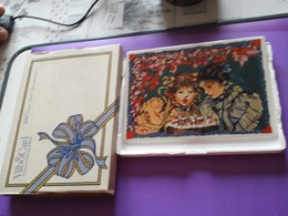 Carte Porcelaine Avec Sa Boîte Et Livret -Enfants, Fleurs - Villeroy / Boch - Porcelana