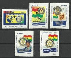 GHANA  2005  ROTARY,IMMUNISATION  SET MNH - Rotary, Lions Club