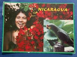 Postcard Circulated Nicaragua 2003, Masaya And Parrot - Nicaragua
