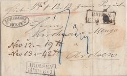 Preussen Paketbegleitbrief Für 2 Pakete R2 Brilon 13.10. Gel. Nach R2 Arolsen 14.10 - Prusse