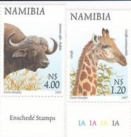 Namibie YV 818/9 MNH 1997 Giraffe Buffle - Timbres