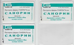 UKRAINE 1998 MEDICINE GALENA SANORIN 3 DIFFERENT CARDS - Ucraina
