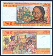 MADAGASCAR 2500 Francs 1998 UNC P 81 - Madagaskar