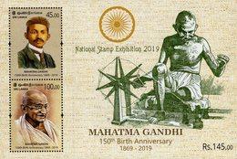 Sri Lanka - 2019 - 150th Birth Anniversary Of Mahatma Gandhi - National Stamp Exhibition - Mint Souvenir Sheet - Sri Lanka (Ceylon) (1948-...)