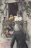 Balcon Fleuri, Humour, Fleurs, Couple, Dame Aroze Les Roses  (pk65633) - Couples