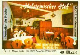 1 Altes Gasthausetikett, Holsteiner Hof, 2067 Reinfeld/Holst. #290 - Cajas De Cerillas - Etiquetas