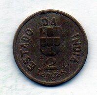 INDIA PORTUGUESE, 2 Tangas, Copper-Nickel, Year 1934, KM #20 - Indonesia