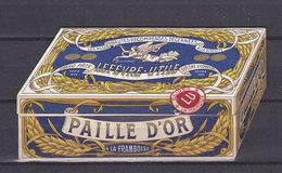 CALENDRIER 1909 120*65mm PUBLICITE LU NANTES PAILLE D'OR ETAT EXCEPTIONNEL - Nantes