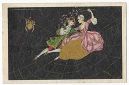 Illustrateur T. Corbella Araignée Couple Dans Une Toile D' Araignée Deganni N° 3522 - Corbella, T.