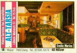1 Altes Gasthausetikett, Alt-Tarsia, Emilio Marino, Lübeck, Wahmstr.51 #292 - Cajas De Cerillas - Etiquetas
