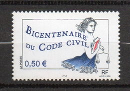 Timbres France BORD DE FEUILLE N° 3644 NEUF ** Bicentenaire Code Civil - Francia