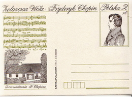 Poland Mint Postal Stationery Card - Musica