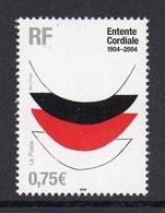Timbres France BORD DE FEUILLE N° 3658 NEUF ** Centenaire Entente Cordiale - Frankreich