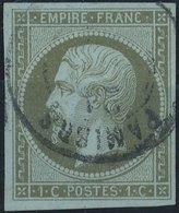 FRANCE - 1860, Mi 10, Yt 11 - 1 C, Oblitére - 1853-1860 Napoléon III
