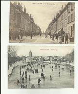 25 - Doubs - Pontarlier - Lot De 2 Photos - La Grande Rue - Le Patinage - - Pontarlier