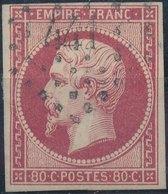 FRANCE - 1854, Mi 16, Yt 17 - 80 C, Oblitére - 1853-1860 Napoléon III
