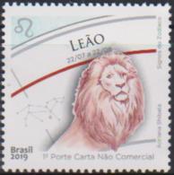 BRAZIL, 2019,  MNH,ZODIAC SIGNS, LEO,LIONS,1v - Astrologie