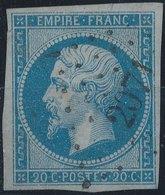 FRANCE - 1854, Mi 13, Yt 14 - 20 C, Oblitére, Signed - 1853-1860 Napoléon III