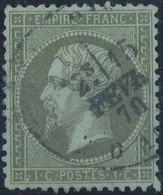 FRANCE - 1862, Mi 18, Yt 19 - 1 C, Oblitére - 1862 Napoléon III