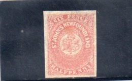 TERRE-NUEVE 1862 SANS GOMME - Neufundland