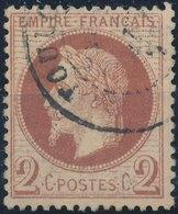 FRANCE - 1862, Mi 25, Yt 26 - 2 C, Oblitére, Signed - 1862 Napoléon III