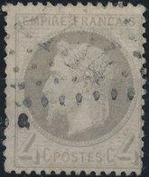 FRANCE - 1862, Mi 26, Yt 27 - 4 C, Oblitére - 1863-1870 Napoléon III Lauré