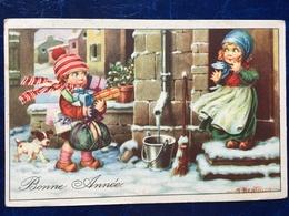 "Cpa---""enfants-Noël-neige-cadeaux ""-Aurelio Bertiglia (my Ref AB6)-1913 - Bertiglia, A."