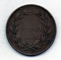 VENEZUELA, 1 Centavo, Copper, Year 1843, KM #3.2 - Venezuela