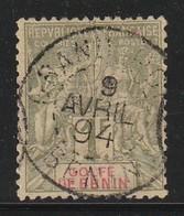 BENIN - N° 32 Obl (1893) 1fr Olive - Benin (1892-1894)