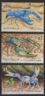 AUSTRALIA, 2019, MNH, MARINE LIFE, CRUSTACEANS, LOBSTERS, CRABS,3v - Crustáceos