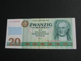 Zwanzig 20 Mark 1975 -  DDR  - Allemagne De L'est  **** EN ACHAT IMMEDIAT **** - [ 6] 1949-1990 : GDR - German Dem. Rep.